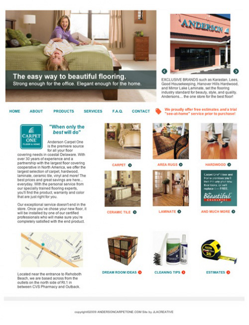 Anderson Carpet One website design