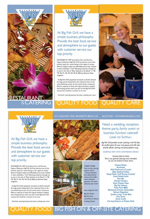 Big Fish Grill brochure