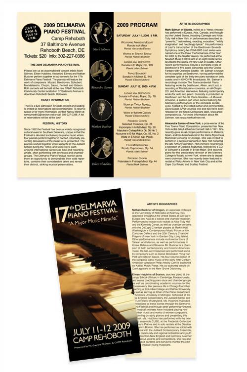 Piano Festival brochure
