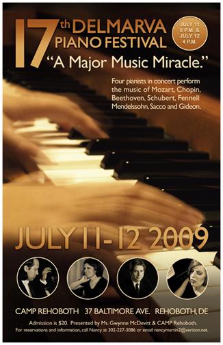 Delmarva Piano Festival Poster